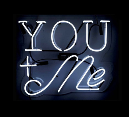 Custom Made You+Me Neon Sign
