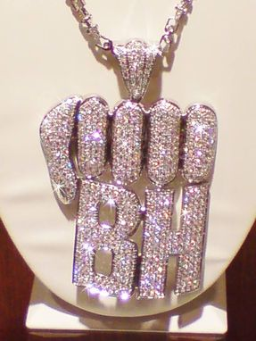 Custom Made Fist With Initials Charm