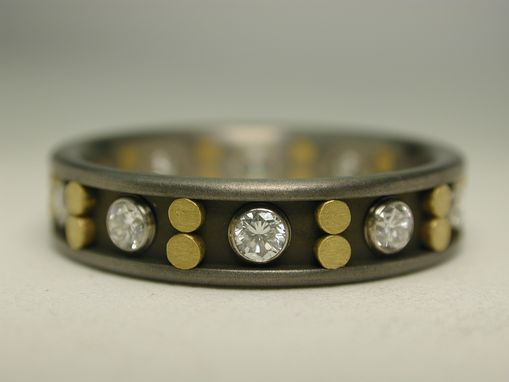 Custom Made Pure Gold And Diamond Ring