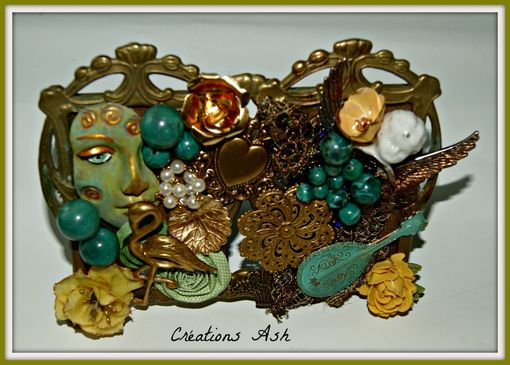 Custom Made Ooak Artistic Frame - Mixed Media Assemblage - Unique Decoration