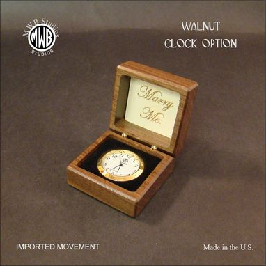 Custom Made Engagement Ring Box With Inlaid Fan. Free Engraving And Shipping.  Rb-20