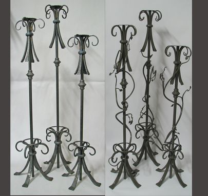 Custom Made Celtic Candle Holders