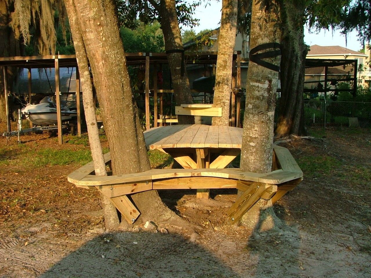 Hand Made Outdoor Custom Picnic Table By Baltic Woodsmith