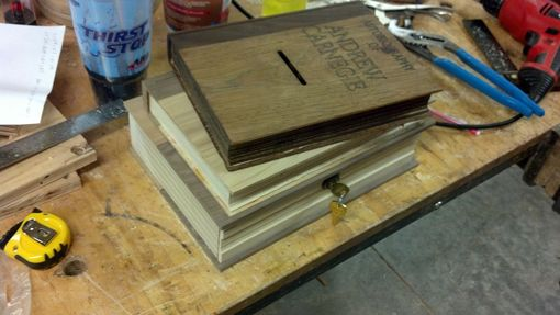 Custom Made Wooden Book Donation Box Set