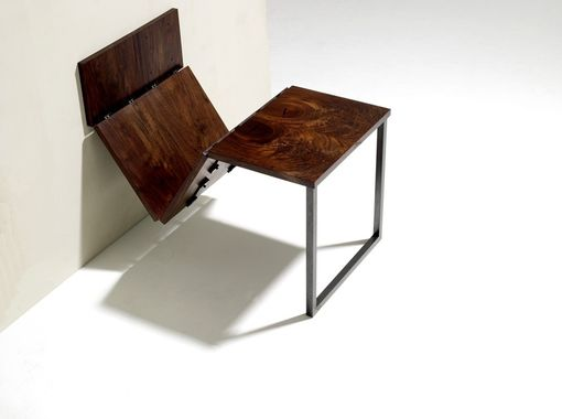 Custom Made Walnut And Steel Folding Dining Table By Anand