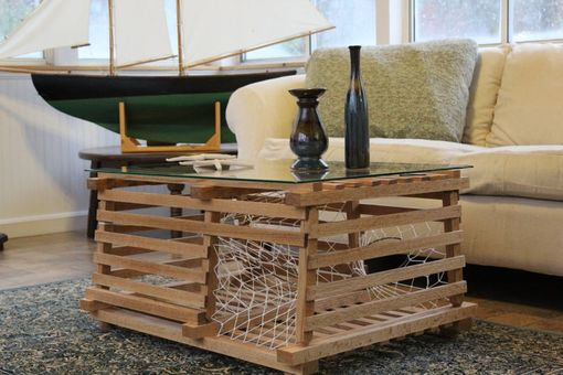 Custom Made Maine Wooden Lobster Trap Coffee Table