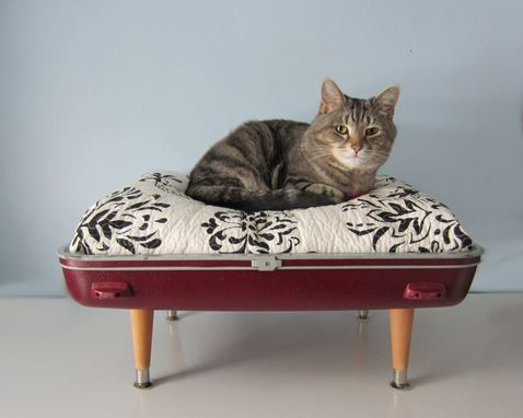Custom Made Pet Beds Made From Vintage Luggage
