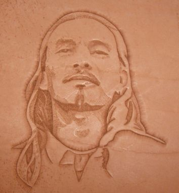 Custom Made Tooled Leather Portrait