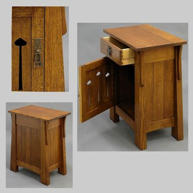 Custom Made Mackintosh End Tables/Nightstands Pair