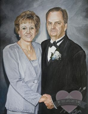 Custom Made Oil Portrait Painting, 40th Wedding Anniversary 2010