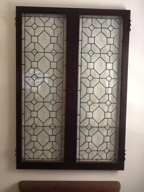 Custom Made Leaded Glass Window Display