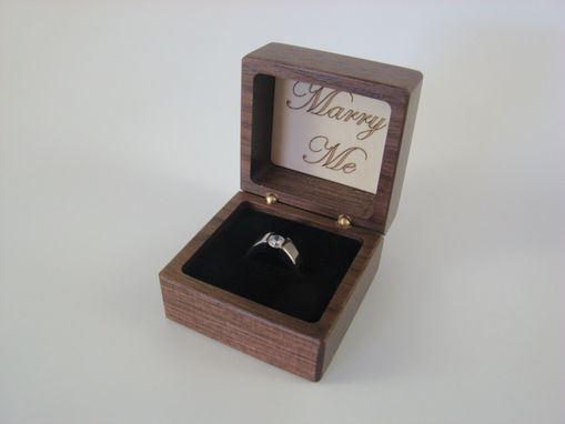 Custom Made Inlaid White Swans Engagement Ring Box With Free Engraving And Shipping. Rb35