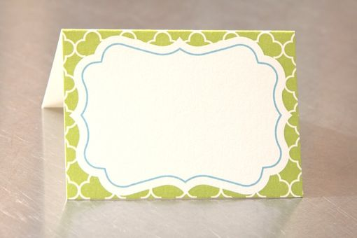 Custom Made Wedding Place Cards - Customizeable Blank Luxe - Escort Cards Custom Designed