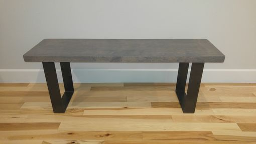 Custom Made (Free Shipping) Urban Industrial Entryway Bench - Gray
