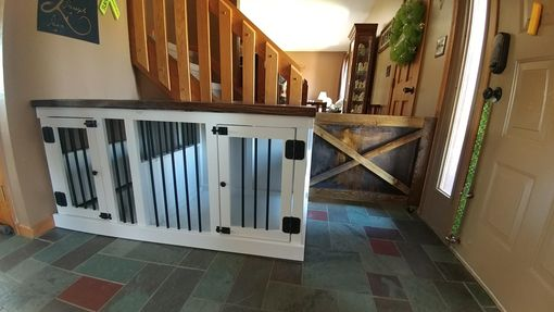 Custom Made Custom Dog Crate Furniture  Double Large