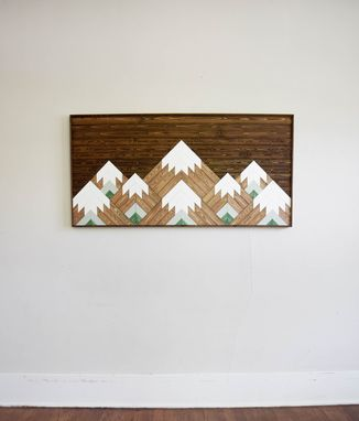 Custom Made Cascades Range Wood Artwork