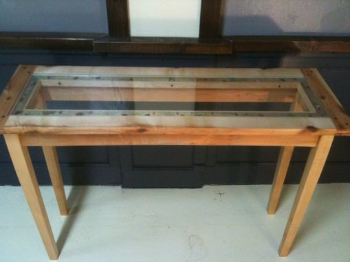 Custom Made Life's A Beach Glass Sofa Table