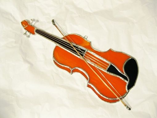 Custom Made Stained Glass Violin Sun Catcher/ Wall Art