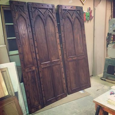 Custom Made Gothic Style Rustic Doors