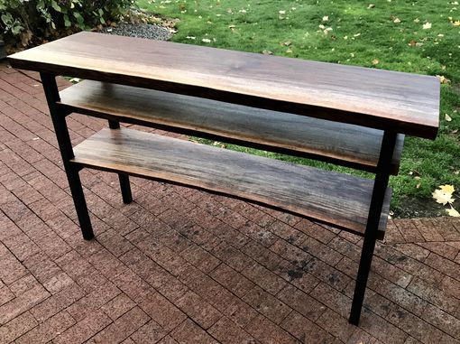 Custom Made Live Edge Console Table