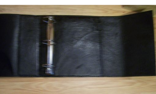 Custom Made Custom Leather Holf Sheet Binder With Flap Closure