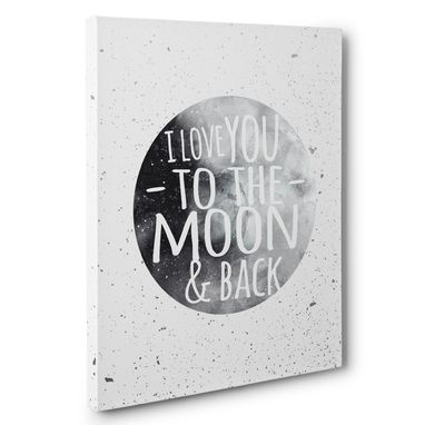 Custom Made Love You To The Moon And Back Wedding Anniversary Canvas Wall Art