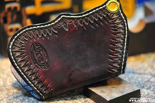 Custom Made Scalloped Wallet 2