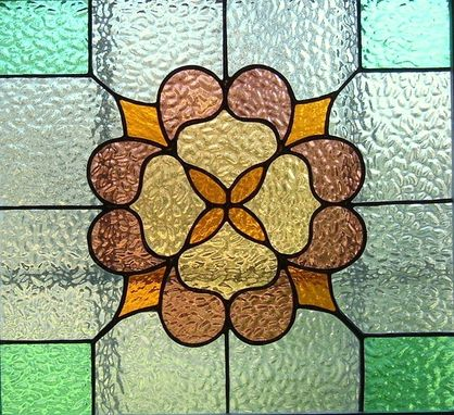 Custom Made Victorian Stained Glass Window