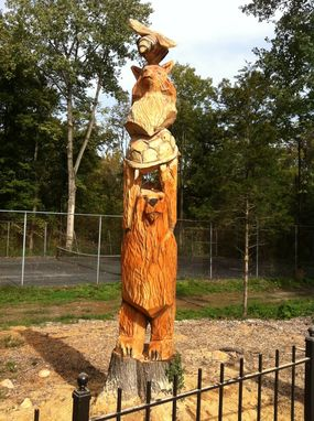 hand made family totem pole by the wood den custommade com