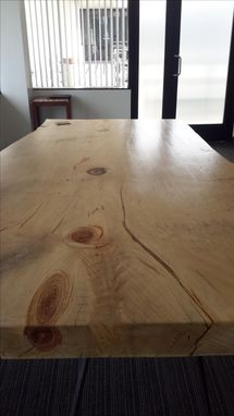 Custom Made Hand Hewn Live Edge Table