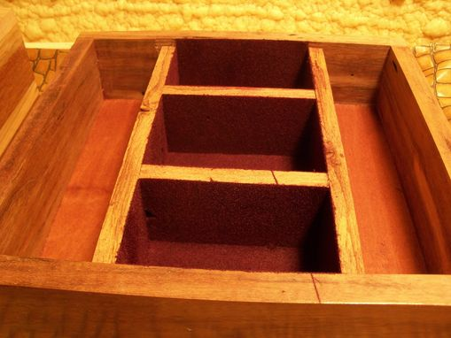Custom Made Repurposed Rustic Jewelry Walnut Barn Wood Box
