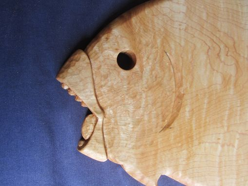 Custom Made Hand Carved Hanging Fish Cutting Board.