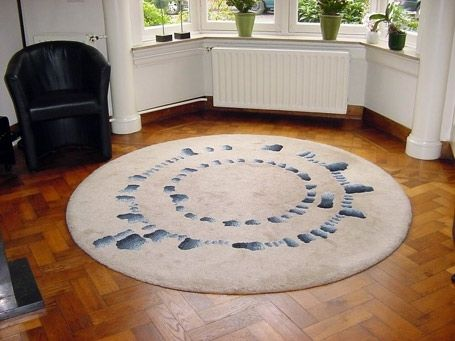 "Custom Made Area Rug ""Stone Circle"""