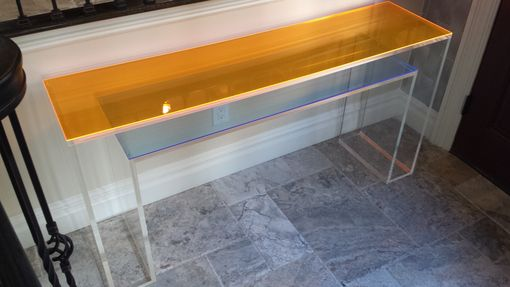 Custom Made Console Table - Double Layer With Color Overlay - Handcrafted , Custom Sizing Welcome