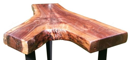 Custom Made Walnut End Table, Live Edge Side Table, Tall Coffee Table, Display Table, Modern Table