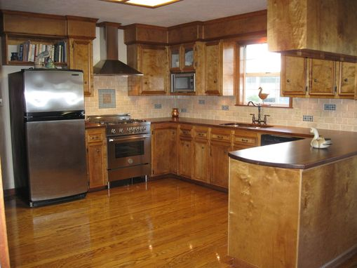 Custom Made Walnut Countertops For Entire Kitchen