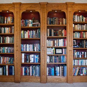 built in oak bookshelves - Library Built In Bookshelves