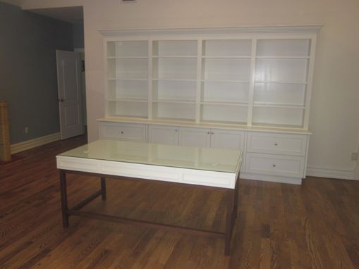 Custom Made Home Office Cabinetry With Matching Desk