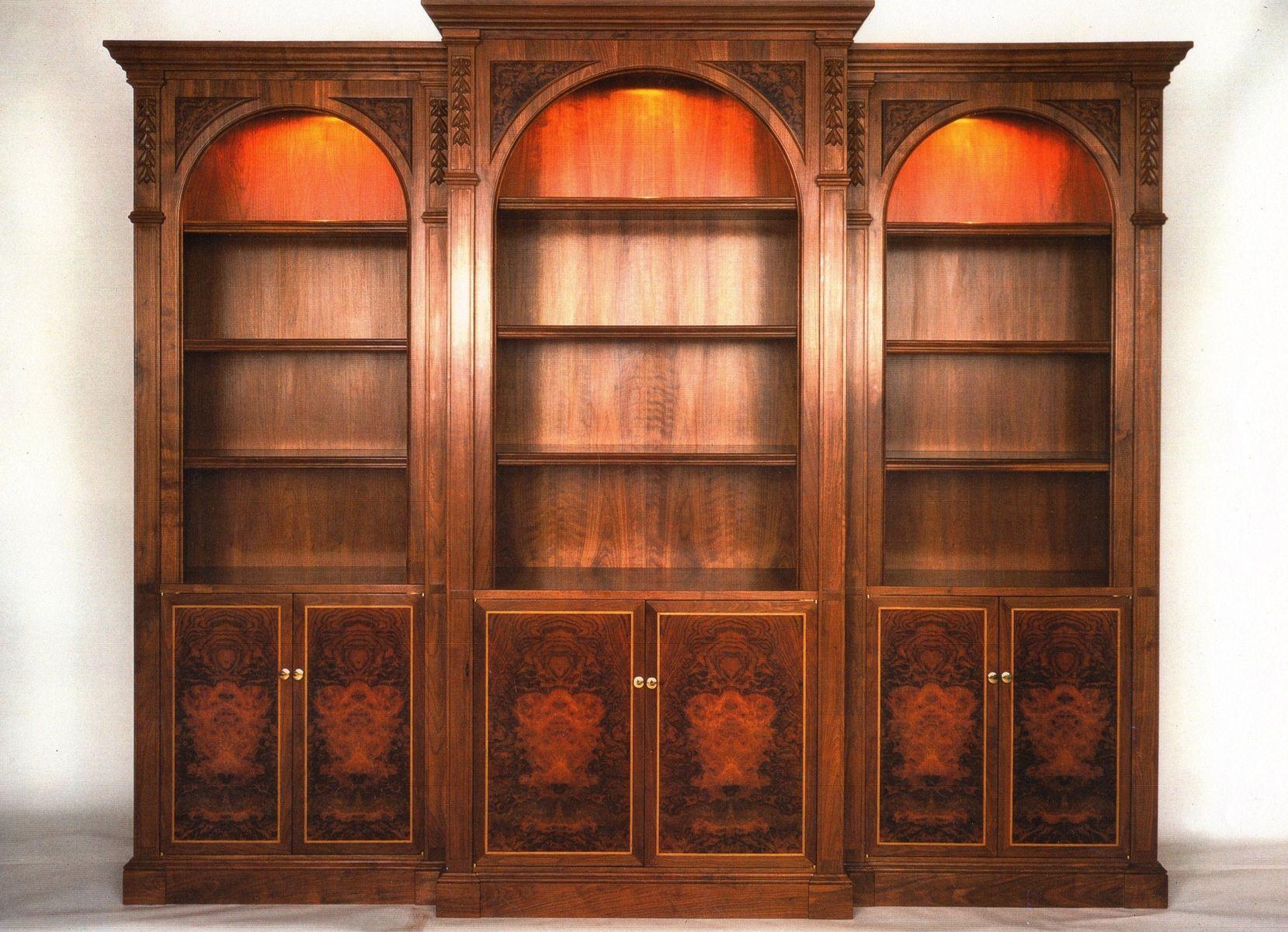 hand made walnut bookcase by coastal woodsmith  custommadecom - custom made walnut bookcase