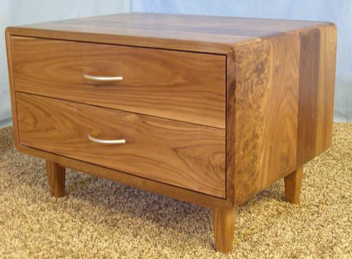 Custom Made 2 Drawer Danish Modern Nightstand (Item # 2d632)