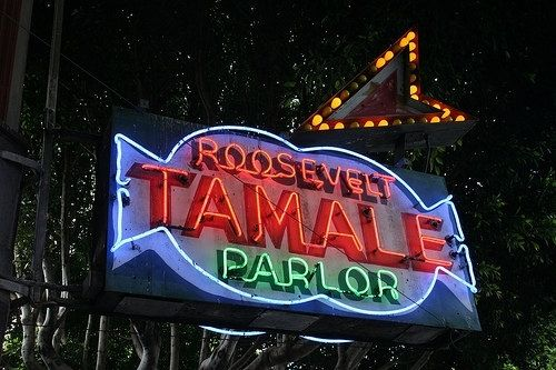 Custom Made Fine Art Photograph Of Roosevelt Tamale Parlor Signage