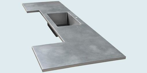 Custom Made Stainless Countertop With Sink & Matte Finish