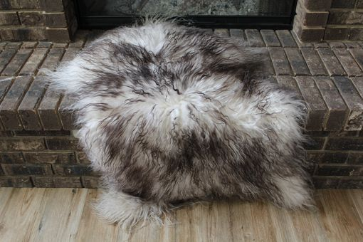 Custom Made Genuine Icelandic Sheepskin Rug Throw – Shade Of Gray - Curly Pile