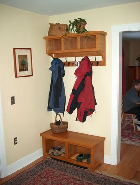 Custom Made Entry Bench & Cubbies -- Shaker/Craftsman Style