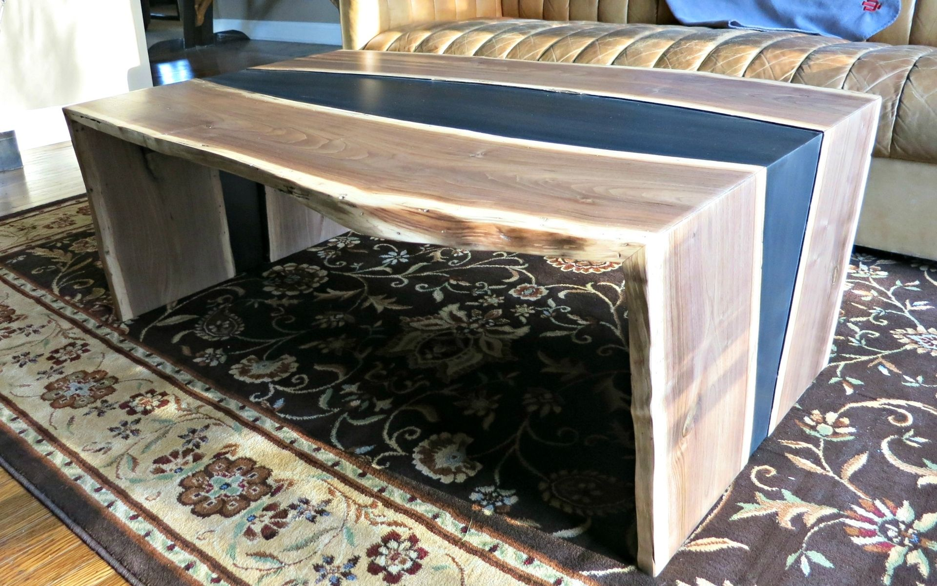 Hand Crafted Bookmatched Walnut Coffee Table by Donald Mee Designs