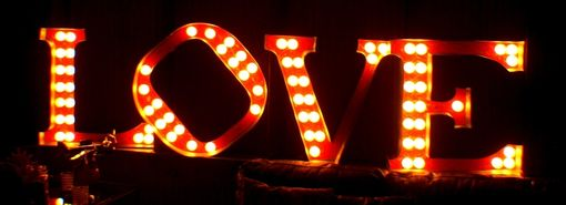 Custom Made Love 2ftx2ft Vintage Marquee Art Letter Smash Style