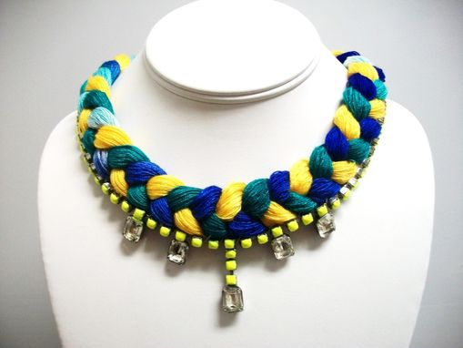 Custom Made N E O Neon Yellow Necklace