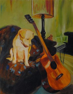 Custom Made Puppy Portrait, Impressionism