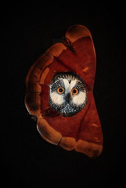 Custom Made Hand Carved And Sculpted Owl In Cherry
