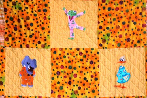 Custom Made Custom Made Animals In Pajama-Children's/Baby' Flannel Quilt